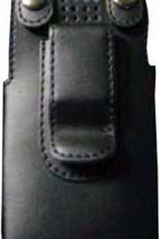 Universal leather case for emergency cell phone