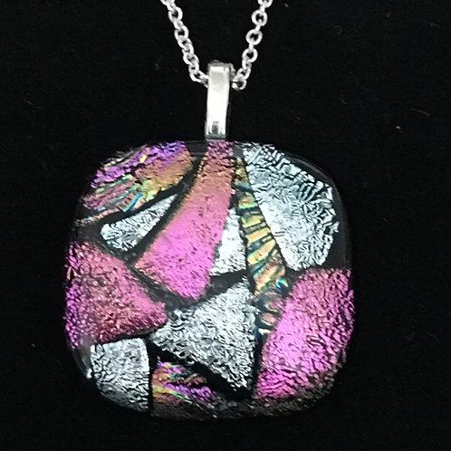 Square mosaic pendant