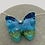 Thumbnail: Ground glass butterfly necklace