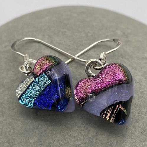 Dangly heart earrings