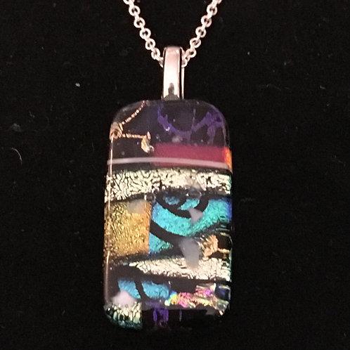 Rectangular mosaic pendant