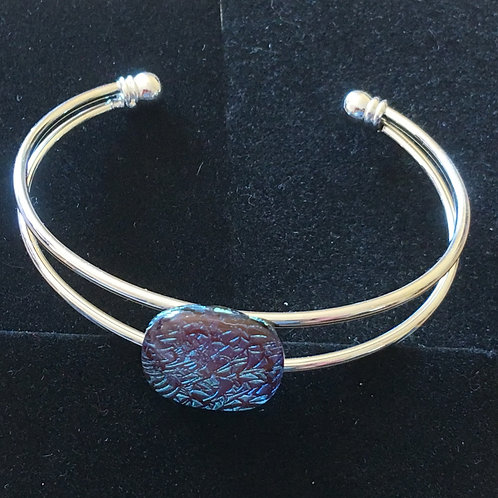 Dichroic glass bangle