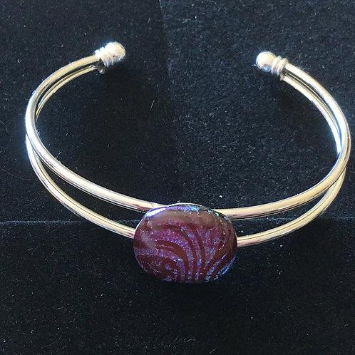 Dichroic glass bangles