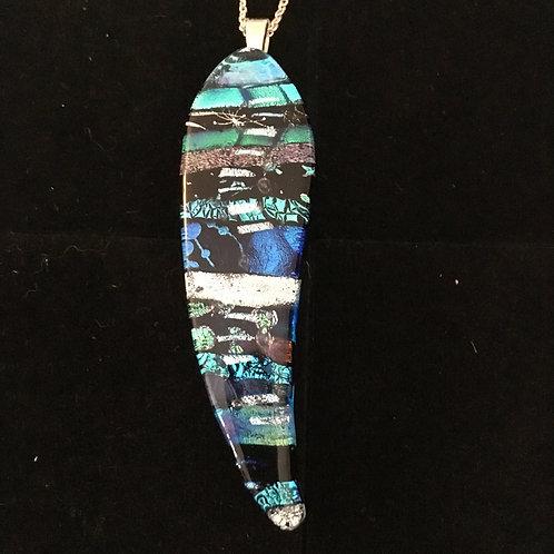 Gum leaf mosaic pendant