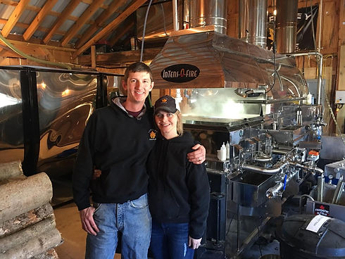 joe and hannah in front of evaporator.jp