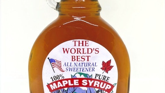 12 oz Glass Maple Syrup