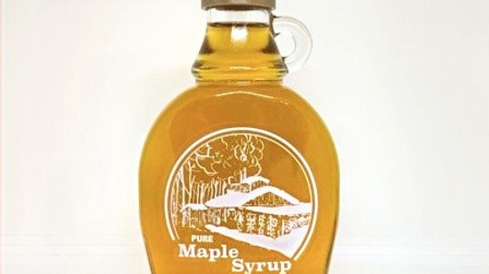 8.5 oz Maple syrup glass with boiling scene