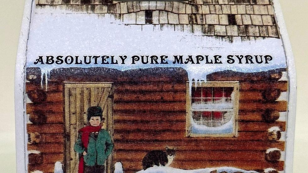 8.45 oz Maple Syrup Decorative Tin Cabin
