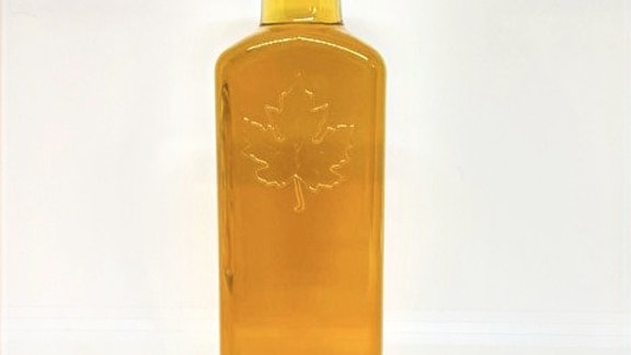 250 ml Glass with decorative leaf front