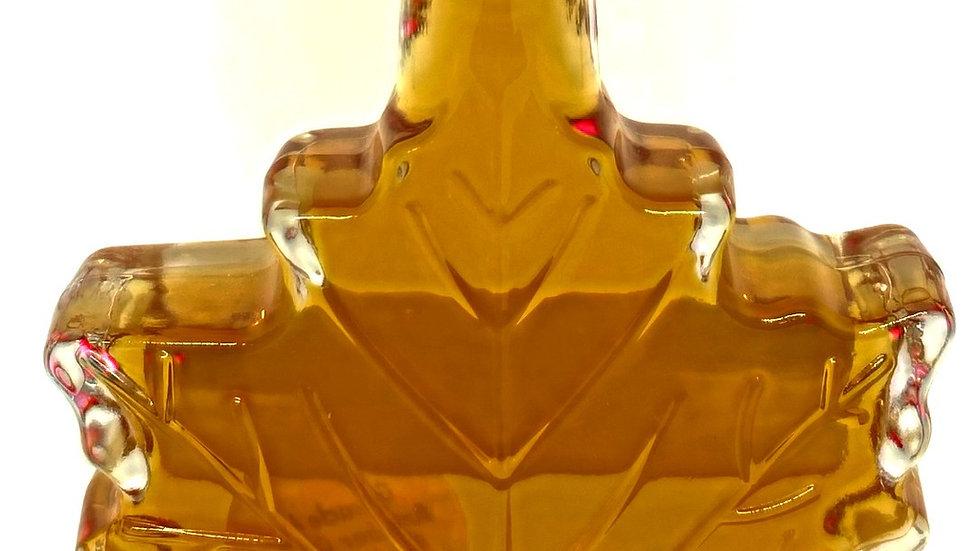1.7 oz Maple Syrup Glass Maple Leaf
