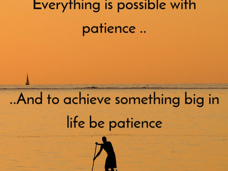 How to be patience ?