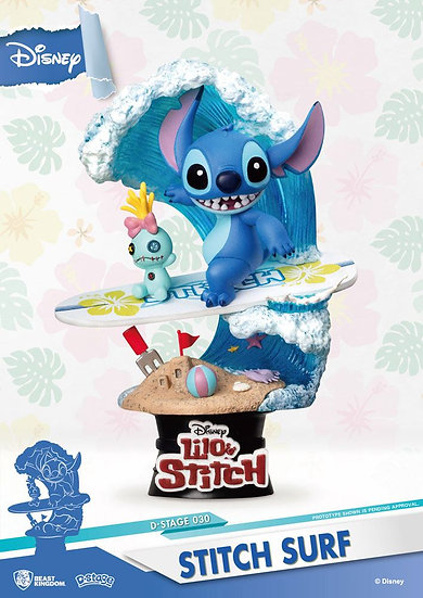 Beast Kingdom Disney Summer Series D-Stage Diorama Stitch Surf