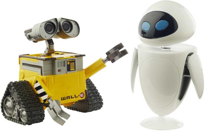 Mattel Disney Pixar Wall-E & Eve Figures