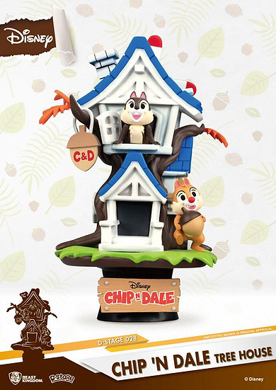 Disney Summer Series D-Stage Diorama Chip 'n Dale Tree House