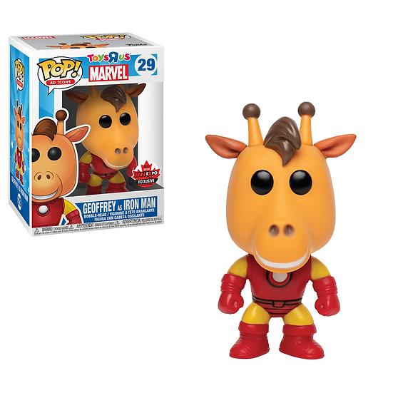 Geoffrey as Iron Man: Canadian Fan Expo Exclusive Funko