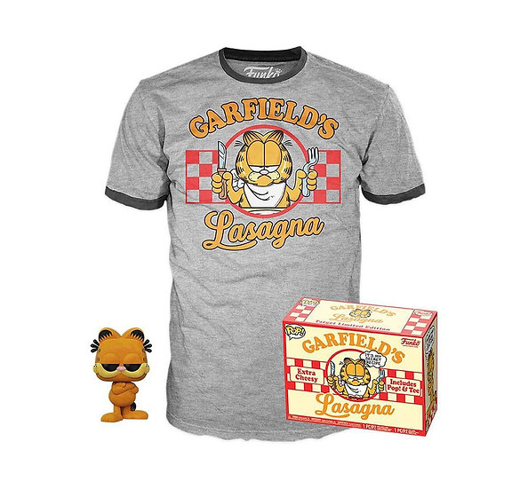 Target exclusive flocked Garfield pop and tee