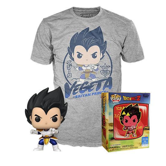Funko Pop! Tees: Dragon Ball Z Vegeta Saiyan Prince: Boxlunch Exclusive