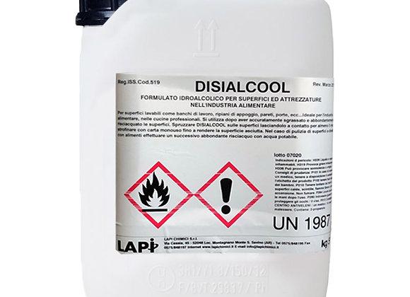 DISIALCOOL tanica da 5 L - Detergente per superfici a base di alcool