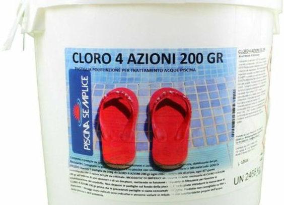 Cloro multifunzione in pastiglie 4 azioni 5kg cloro flocculante alghicida
