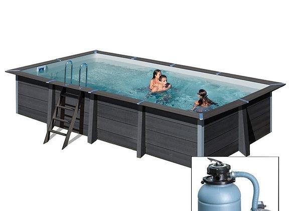 AVANTGARDE 466x326x h124 cm, filtro sabbia, piscina fuoriterra in composite