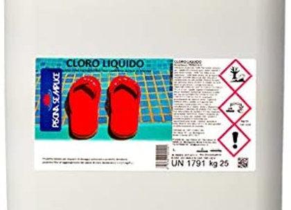 CLORO LIQUIDO DA 25 KG.Cloro liquido concentrato stabilizzato per piscine