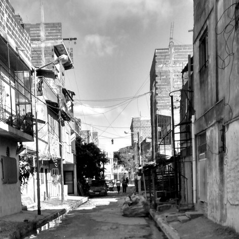 Calle Laguna del Barrio Ramón Carillo en Buenos Aires
