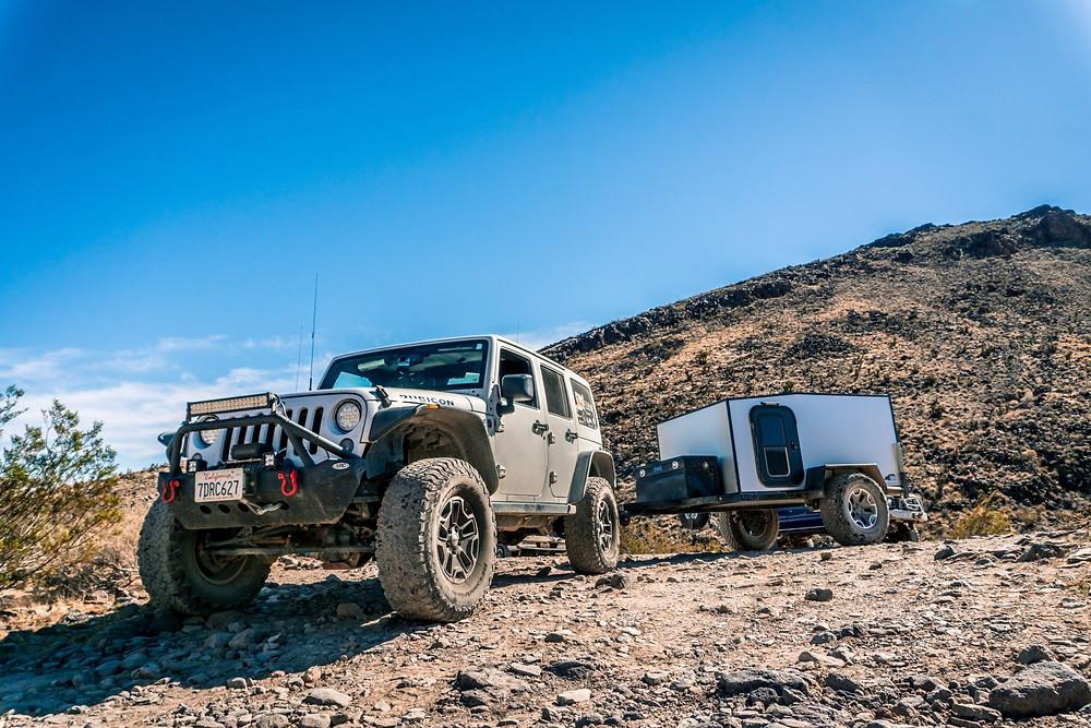 Jeep Wrangler JKU in the desert
