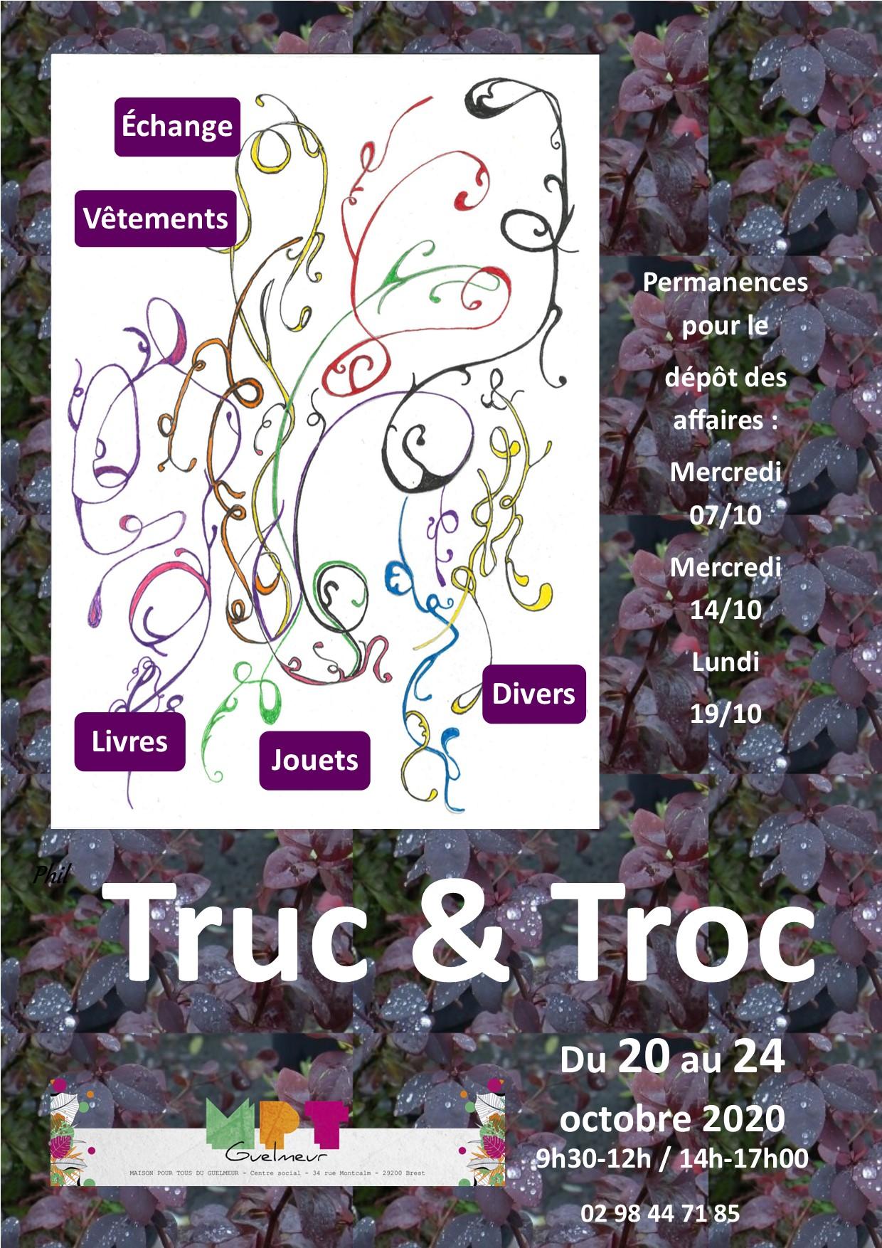 affiche Truc&Troc octobre 2020