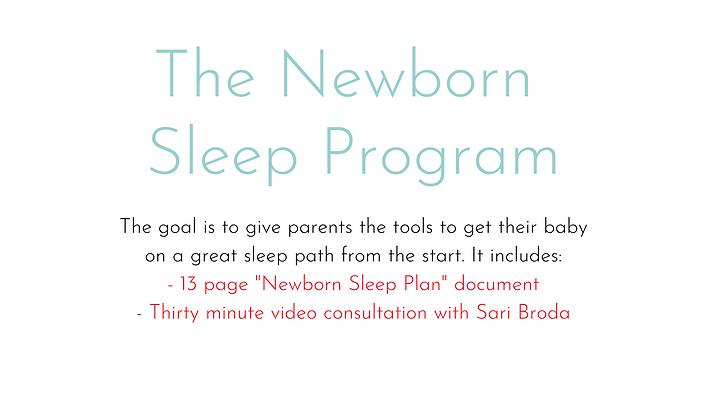 Newborn Sleep Plan + 30 Min Consult Call