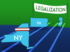 New Jersey, Pennsylvania push for legalization - Will New York follow?