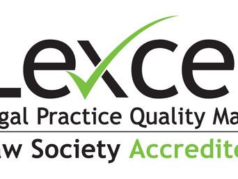 John W Davies awarded Law Society Lexcel accreditation