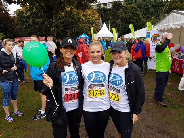 Girls after running charity race