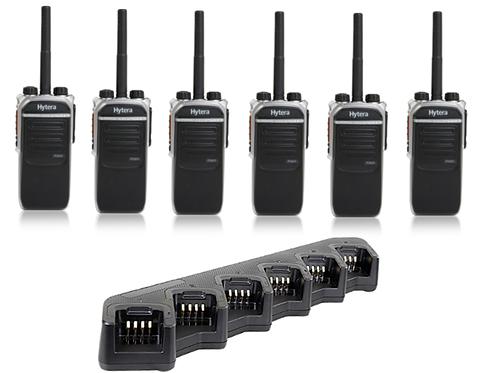 6 Way Hytera Digital portable radio Kit