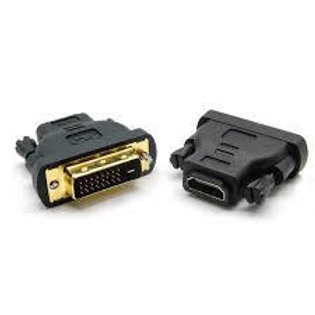 Male DVI to Female HDMI Adapter Block