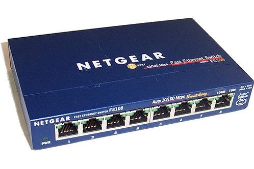 Netgear FS108 8 Port 10/100 Mbps Ethernet Switch