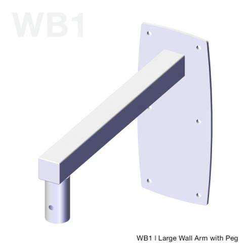 Unicol Peg Wall Arm 35cm (White)