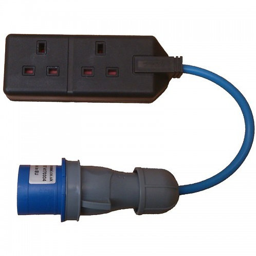 16a to 13a 2 Gang Adapter