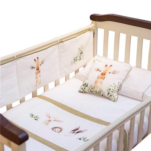 Cobertor de cuna Amigos animales 145x110