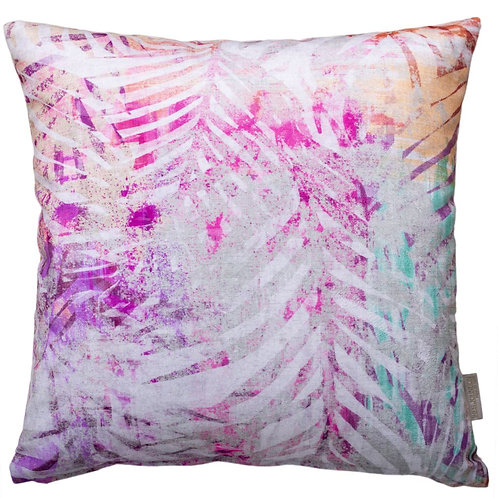 Cojín ámbar palmera rosa 44x44cm