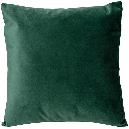 Cojín verde felpa 44x44
