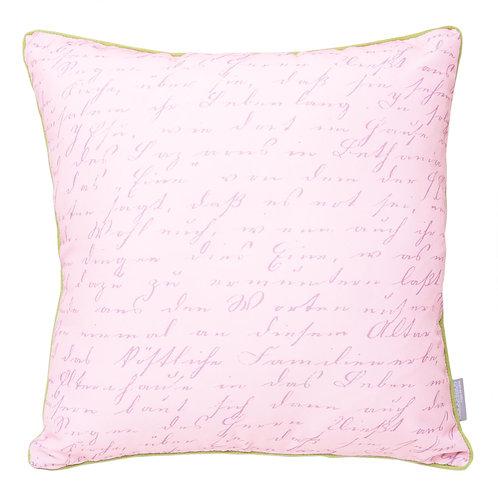Cojín rosa manuscrito 44x44cm