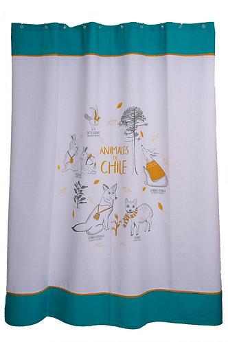 Cortina de baño Animales Chile 180x180cm