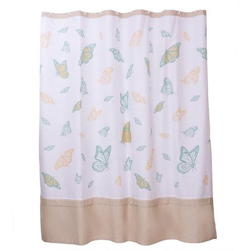 Cortina de baño Vuelo mariposas 180x180cm