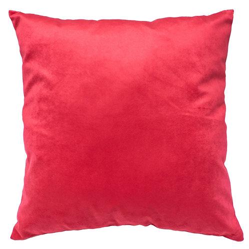 Cojín felpa rojo  44x44