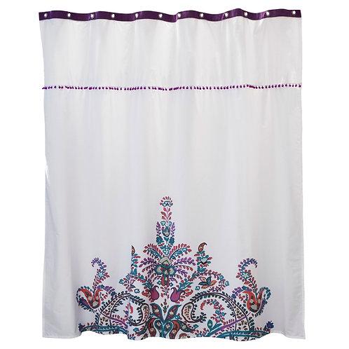 cortina de baño bohemia hecha en chile