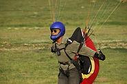 Yamaç paraşütü rüzgar tulumu