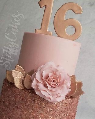 Rose Gold Glitter Cake