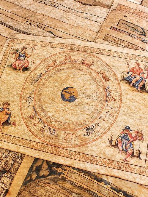 16th century Geocentric Zodiacal Calendar by Francesco Ghisolfi