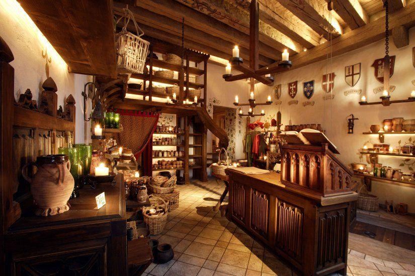 Medieval shop interior