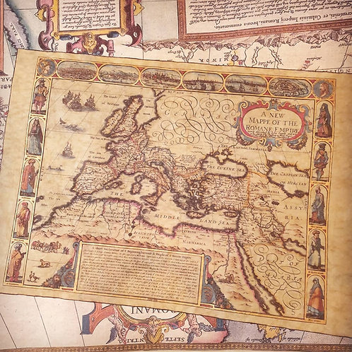 A New Mappe Of The Romane Empire, John Speed, 1626